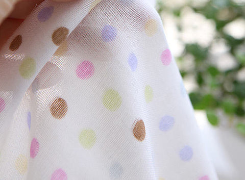 Cotton Double Gauze Colorful Polka Dots 49
