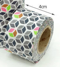4 cm Cotton Bias by the roll Cubes 10 Yards 48309