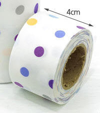 4 cm Cotton Bias by the roll 8mm Polkadot 10 Yards 48311