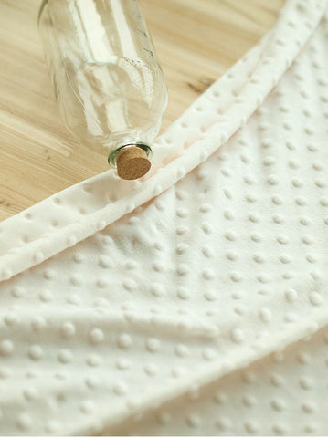 Minky Dimple Dot - Cream Ivory - K Series - By the Yard 49288