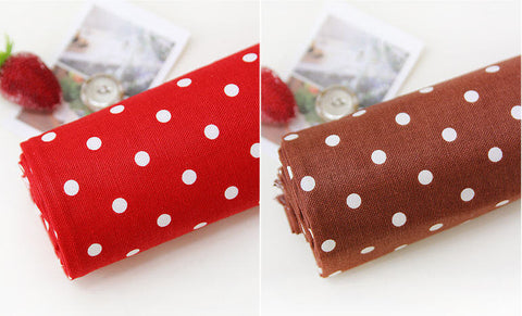 5 mm Polka Dots Oxford Cotton Red or Brown By the Yard (44 x 36