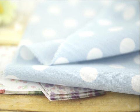 12 mm Dots on Chambray Cotton Fabric By the Yard 52392 201