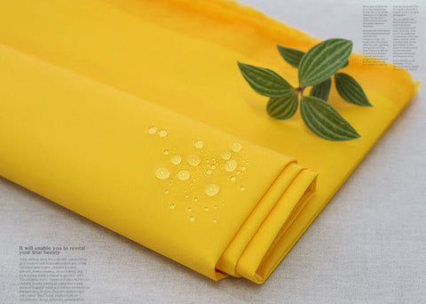 Waterproof Fabric - Lemon Yellow - By the Yard 14251 - GJ