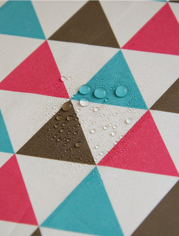 Waterproof Fabric - Geometric Large Triangles - 59