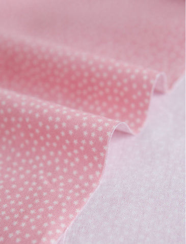 Tiny Stars on Pink Cotton Fabric 44