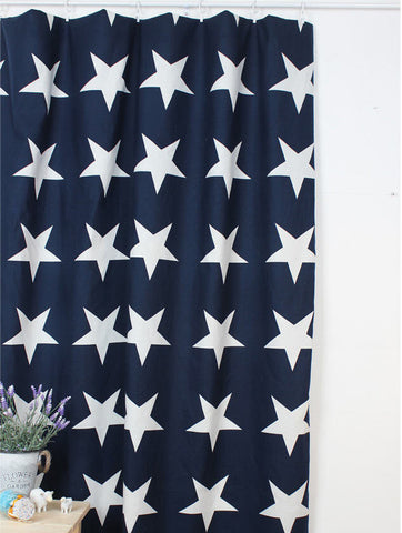 Cotton Linen Big Stars - By the Yard 72055