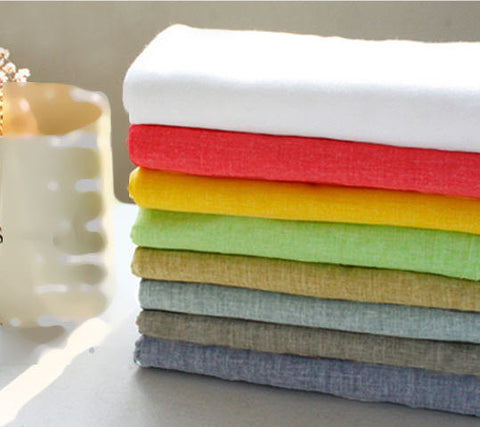 Cotton Gauze - White, Orange Red, Yellow, Green, Mustard, Sky Gray, Denim Blue or Aluminium Gray - 55