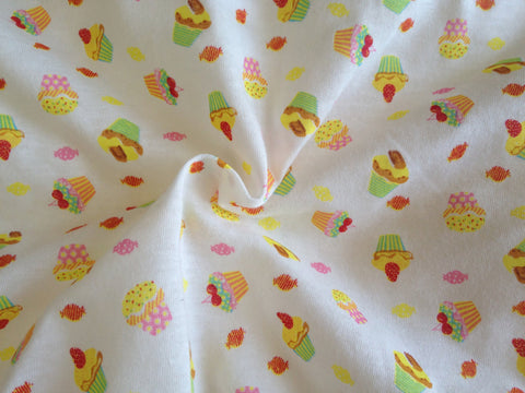 Cupcakes Cotton Knit Fabric - 68