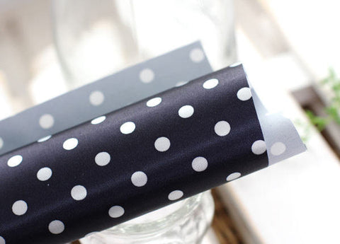 Waterproof Fabric White Dots on Navy - By the Yard 60726N