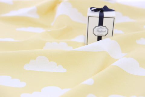 Cloud Cotton Rayon Fabric - Yellow - By the Yard