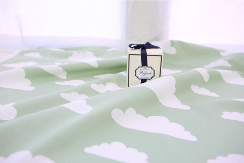 Cloud Cotton Rayon Fabric - Green - By the Yard