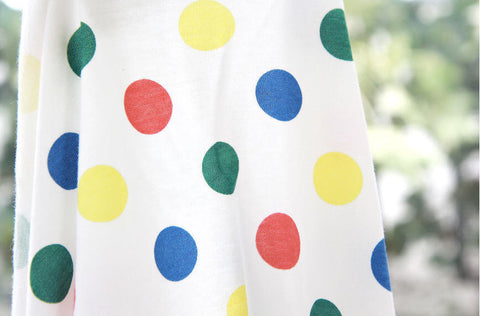 Colorful Dots Cotton Knit Fabric - 59