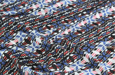 Geometric Cotton Knit Fabric - 59
