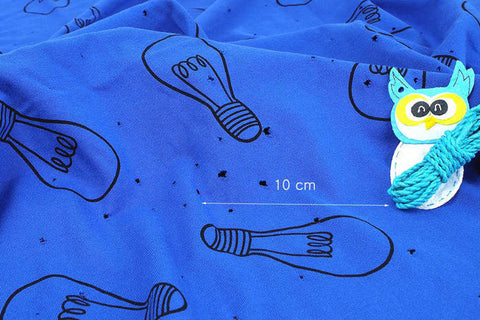 Light Blubs Cotton Knit Fabric - Blue - 66