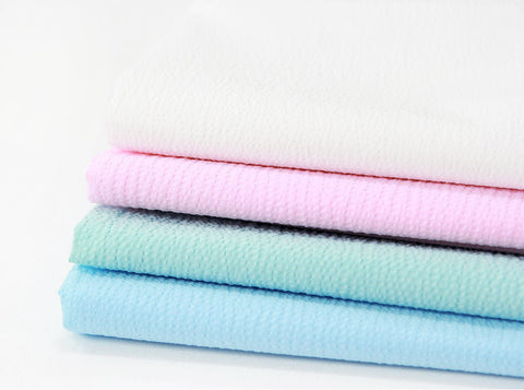 Cotton Seersucker - White, Pink, Mint or Blue - 49