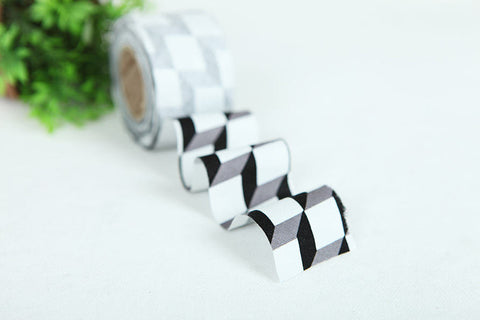 4 cm Cotton Bias by the roll - Black Cube - 10 Yards 81750