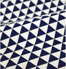 Navy Mini Triangles Cotton Fabric, Geometric Fabric - 44