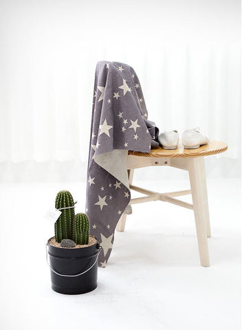 Stars Gray Cotton Linen - 57