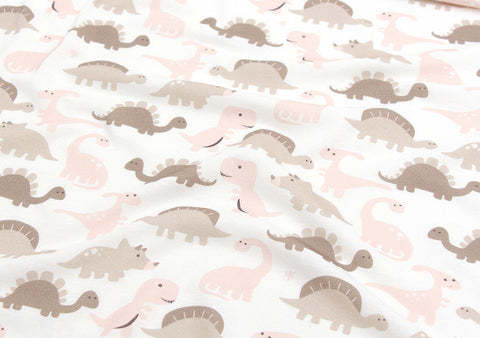 Baby Dinosaur Cotton Knit - Brown & Pink - 33