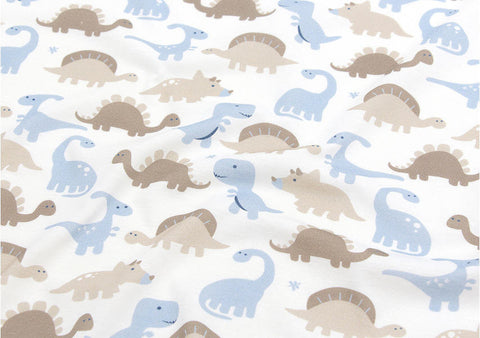 Baby Dinosaur Cotton Knit - Brown & Blue - 33