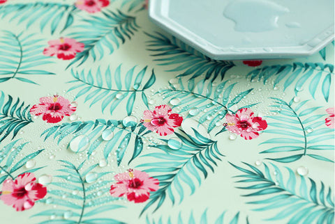 Hibiscus Flowers Waterproof Fabric, Hawaiian Waterproof, Aloha Waterproof - 59 Inches Wide - By the Yard 90587