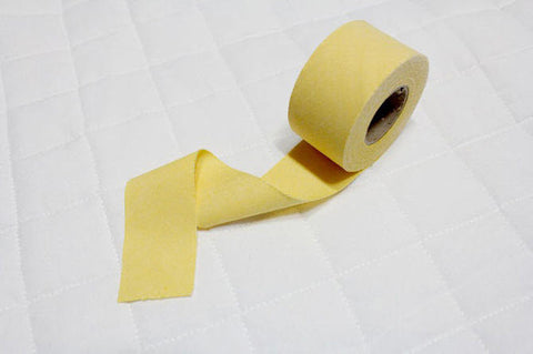 4 cm Cotton Bias - Yellow - 12 Yard roll 86707