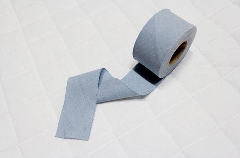 4 cm Cotton Bias - Blue - 12 Yard roll 86710