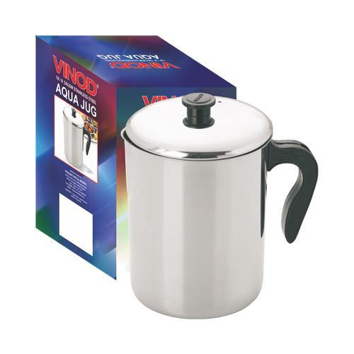 Vinod Stainless Steel Aqua Jug Covered - 2200 ml