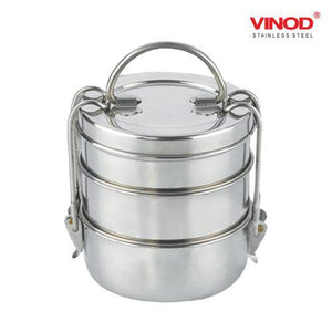 Vinod Stainless Steel Lunch Tiffin - Gogia bartan store