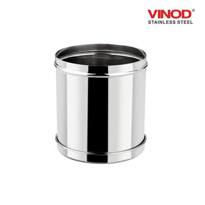 Vinod Stainless Steel Airtight Deep Dabba - From 350 ml to 6 Kg - set of 12 pieces