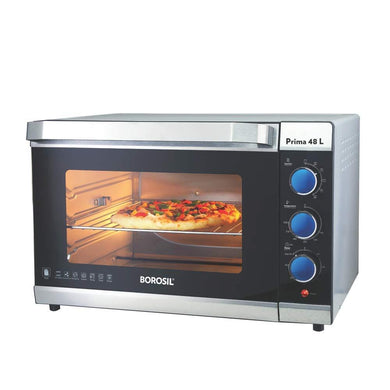 BOROSIL PRIMA 48 L OTG, WITH MOTORISED ROTISSERIE AND CONVECTION, 2000 W, 6 STAGE HEATING FUNCTION, SILVER - Gogia bartan store