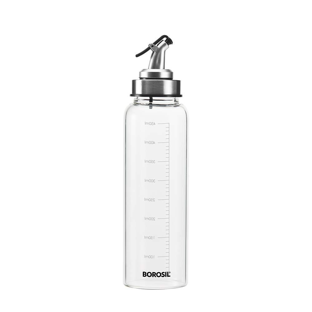 BOROSIL GLASS OIL DISPENSER, 1000ML, SILVER - Gogia bartan store
