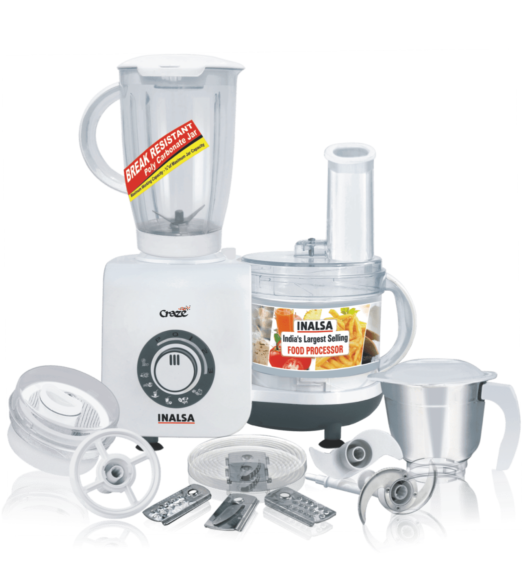 INALSA FOOD PROCESSOR CRAZE 700W - Gogia bartan store