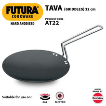 Load image into Gallery viewer, HAWKINS HARD ANODIZED ROTI TAWA 22CM AT22 - Gogia bartan store