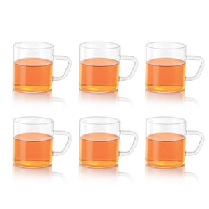 BOROSIL VISION COLOUR MUGS SET OF 6 PCS 190ML - Gogia bartan store