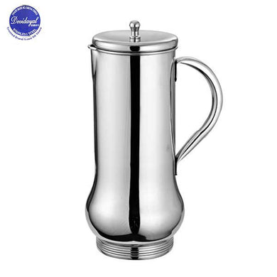 DEVIDAYAL STAINLESS STEEL MINI BOMBAY BELLY JUG - 1 L - Gogia bartan store