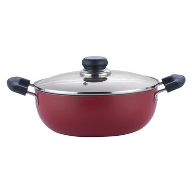 VINOD ZEST NON-STICK DEEP KADAI WITH GLASS LID (INDUCTION FRIENDLY) - Gogia bartan store
