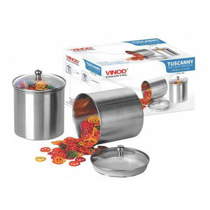 Vinod Stainless Steel Tuscanny Canister