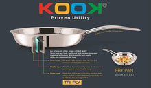 Load image into Gallery viewer, KOOK TRIPLY STAINLESS STEEL FRY PAN - Gogia bartan store