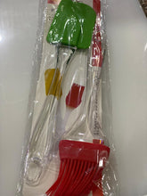 Load image into Gallery viewer, BAKEWARE SET OF SPATULA AND BRUSH SILICONE - Gogia bartan store