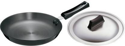HAWKINS FUTURA HARD ANODISED FRYING PAN WITH STEEL LID , 25CM AF25S - Gogia bartan store