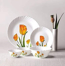 Load image into Gallery viewer, LAOPALA OPALWARE DIVA CLASSIQUE DINNER SET , 27 PCS , TULIP PASSION - Gogia bartan store