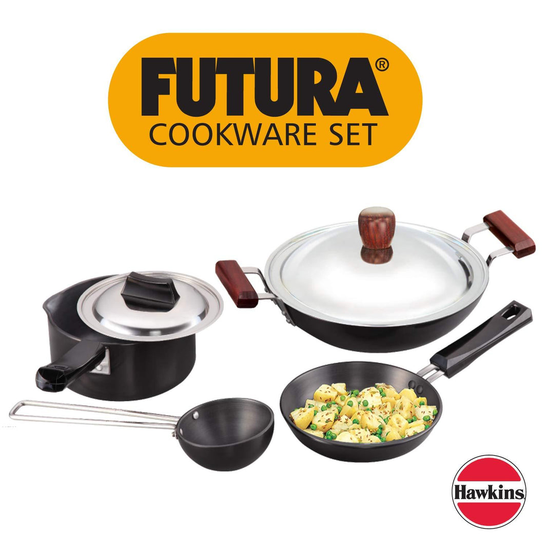 HAWKINS FUTURA HARD ANODISED COOKWARE, 7 PIECES SET (LS8) - Gogia bartan store