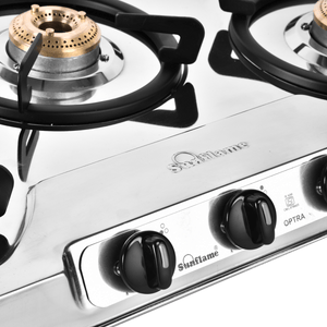 SUNFLAME OPTRA 3B SS GAS STOVE - Gogia bartan store