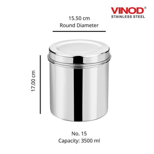 Vinod Stainless Steel Airtight Deep Dabba set of 2 pieces - Gogia bartan store