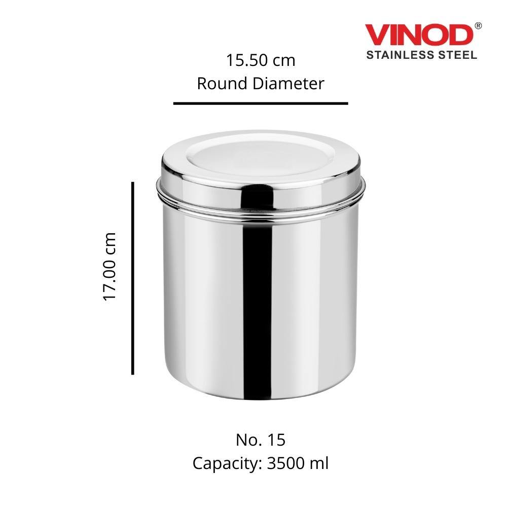 Vinod Stainless Steel Airtight Deep Dabba set of 2 pieces