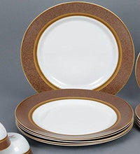 Load image into Gallery viewer, LAOPALA DIVA SOVRANA EMPRESS BROWN 27 PIECES DINNER SET - Gogia bartan store