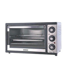 Load image into Gallery viewer, BOROSIL PRIMA 25 LITRE OTG WITH MOTORISED ROTISSERIE AND CONVECTION, 1500 W, BLACK