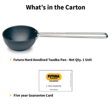 Load image into Gallery viewer, HAWKINS FUTURA HARD ANODIZED TADKA HEATING TADKA PAN 1 CUP (HARD ANODISED) - Gogia bartan store