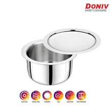 Load image into Gallery viewer, DONIV Titanium Triply Stainless Steel Tope with Cover, Induction Friendly - Gogia bartan store